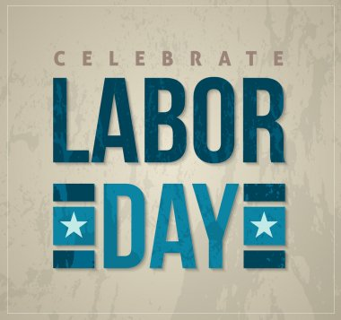 Labor day poster and card