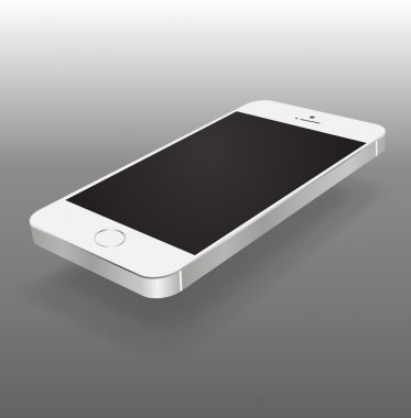 Smartphone black and white color Isolated