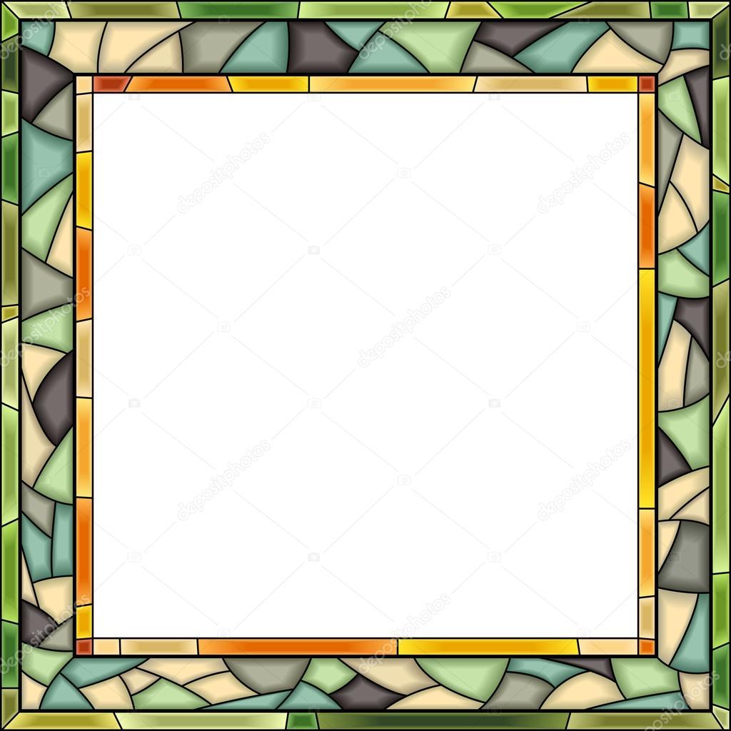marco de vidriera vector para fotografía — Vector de stock © Vertyr ...