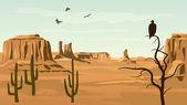 Fotografia illustrazione di cartone animato orizzontale del selvaggio west prateria