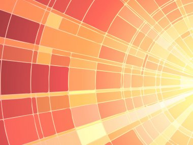 Vector illustration of mosaic sunset.