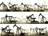 Fotografia banner orizzontale con unità per lindustria petrolifera