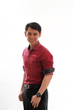 Young handsome Indonesian man