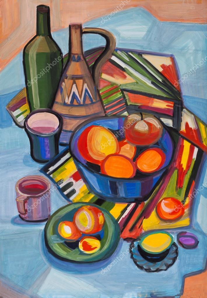 Натюрморт ваза с фруктами. Натюрморт с фруктами в вазу и ...