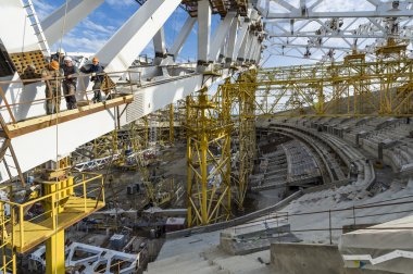 Construction of Olympic Venue in the Sochi Olympic Park, Russia