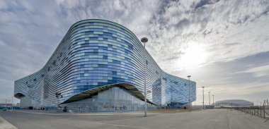 Facade of the Ice RInk in the Sochi Olympic Park