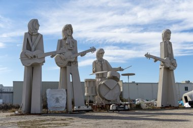 The Beatles. Sculpture by famous David Adickes. Houston, USA