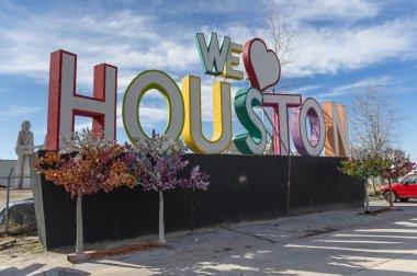 We love Houston composition, Texas, USA