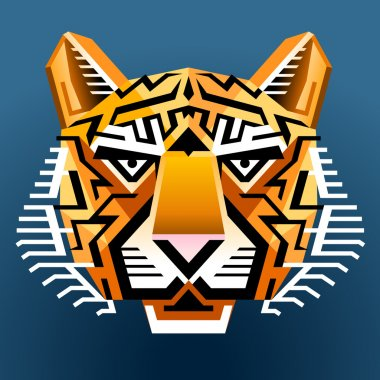 Geometric tiger's face