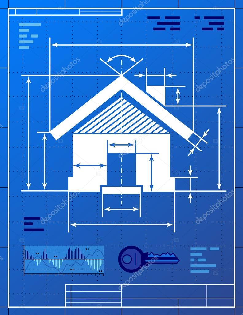 Home symbol like blueprint drawing stock vector kulyk 29263245 stylized drawing of house sign on blueprint paper qualitative vector eps 10 illustration about architecture building real estate construction malvernweather Image collections