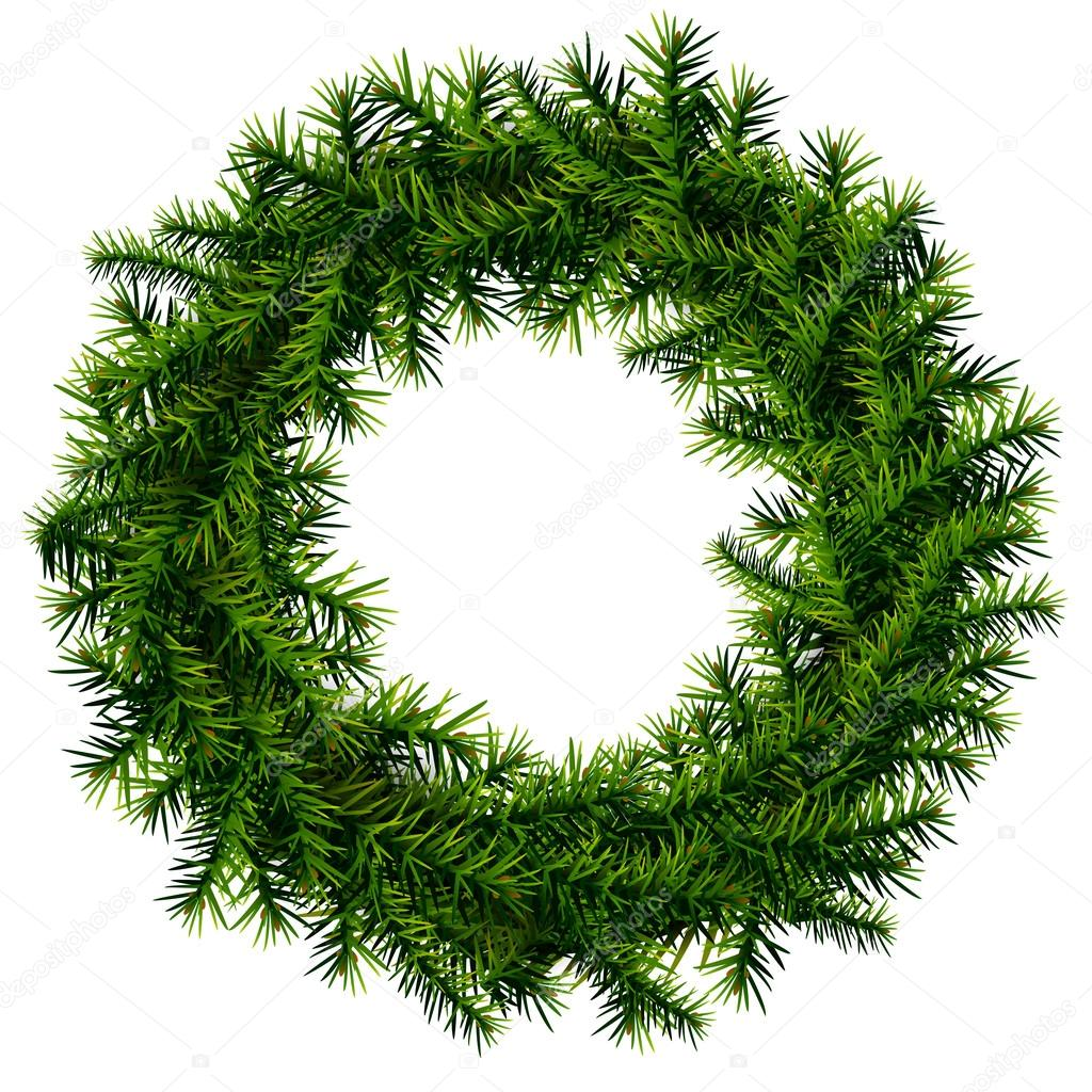 Christmas wreath without decoration