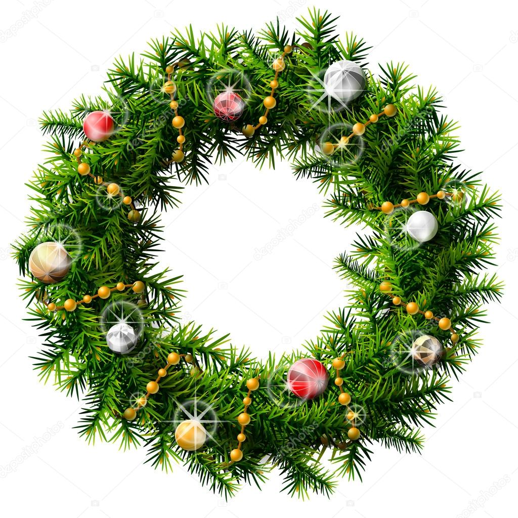 Decorated Wreath Or Christmas