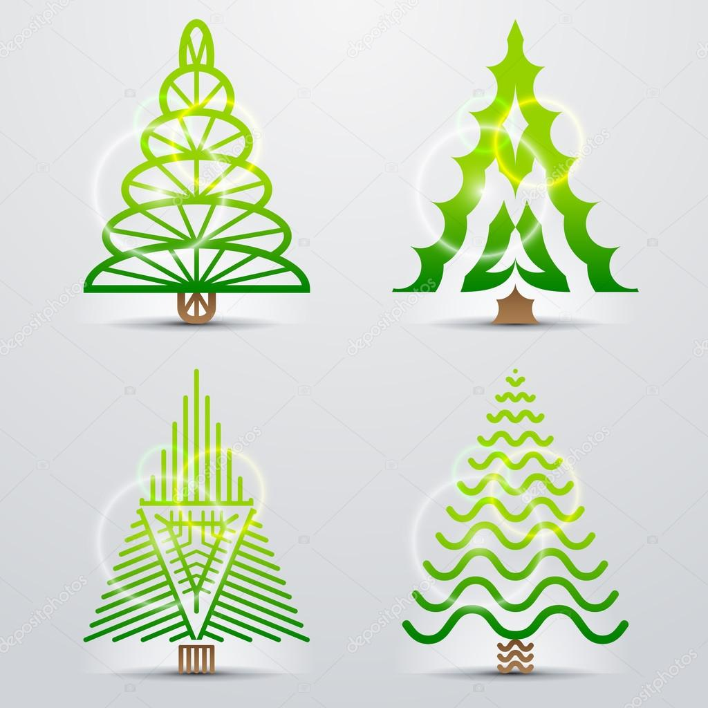 Stylized symbols of christmas tree stock vector kulyk 32241393 stylized symbols of christmas tree stock vector biocorpaavc Image collections