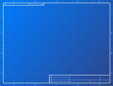 Blank blueprint paper for drafting
