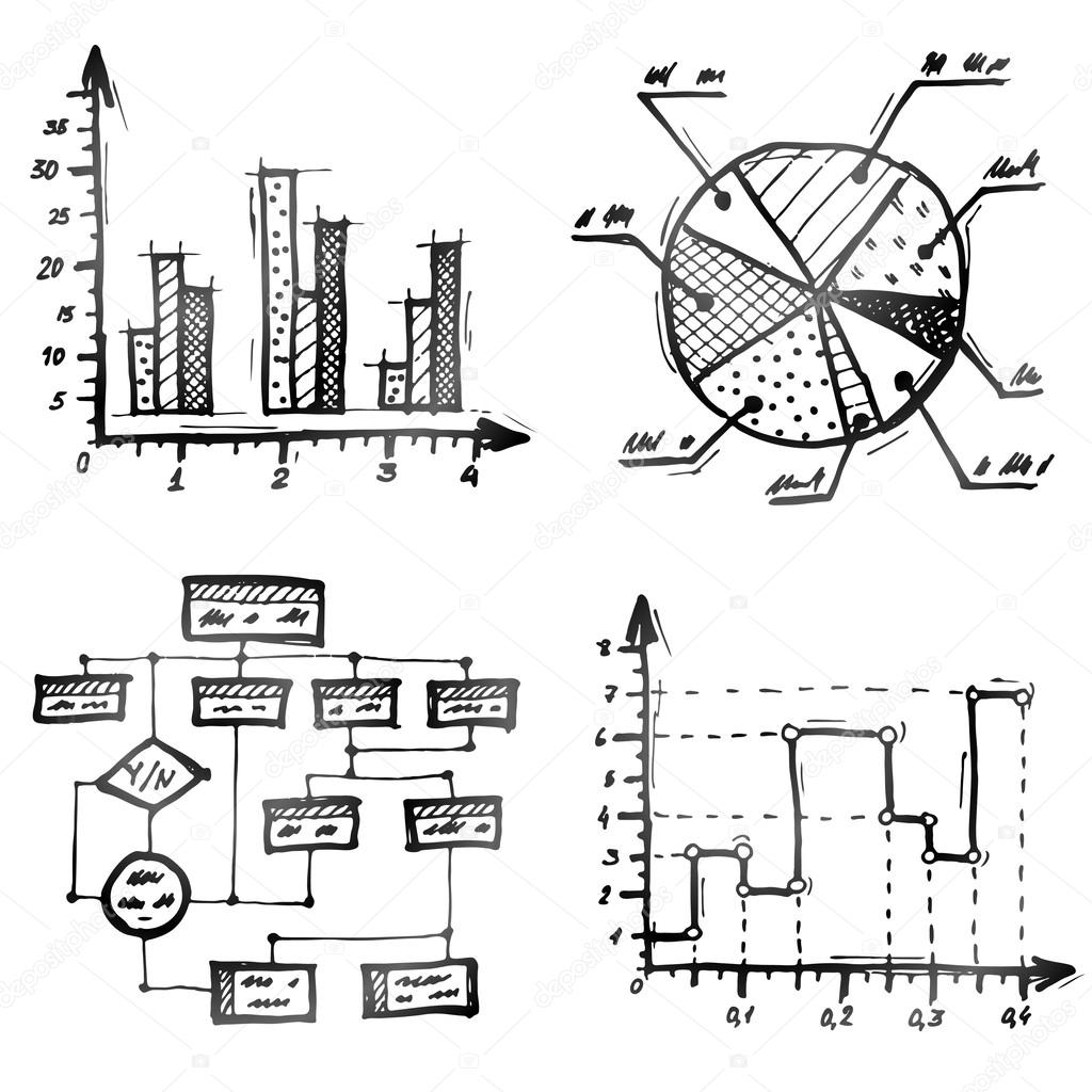 hand drawn different types of infographics stock vector kulyk rh depositphotos com hand drawn diagram software hand drawn diagram