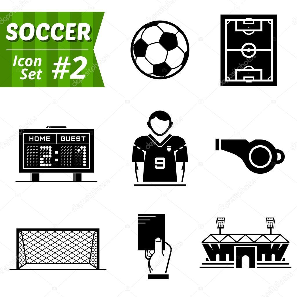 Icone set di elementi di calcio — Vettoriali Stock © kulyk #47470561