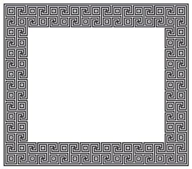 Greek pattern frame