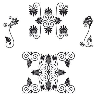 Greek pattern flowers