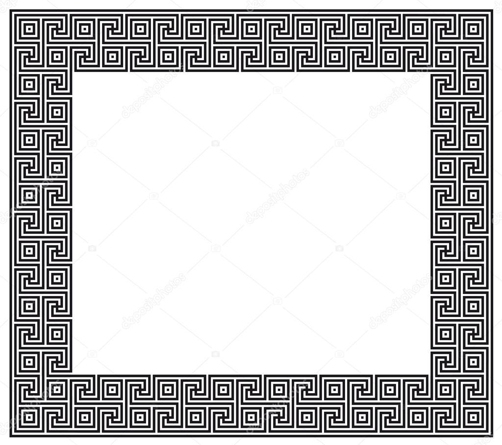 griechische Muster-Rahmen — Stockvektor © kinanik #26460825