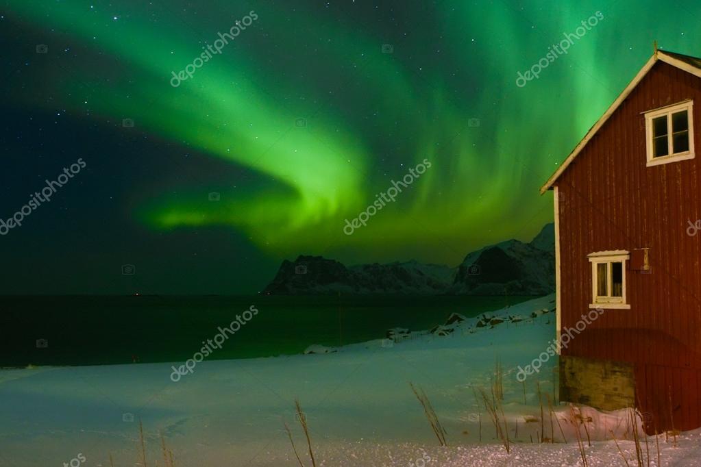 Aurora borealis or northern polar lights