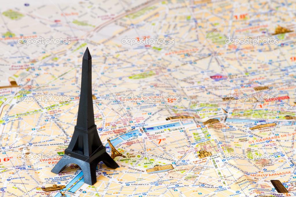 Eiffel Tower Paris Map Stock Photo C Nacroba 22533621