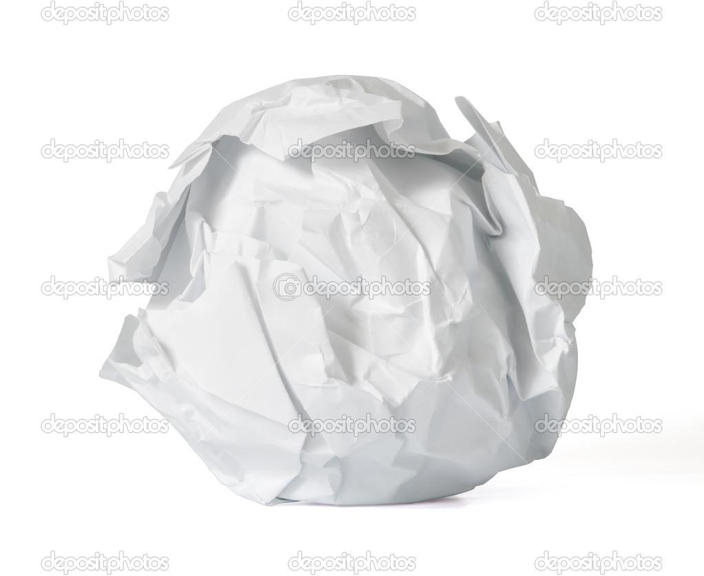 crumpled paper ball — stock photo © nacroba #23122346