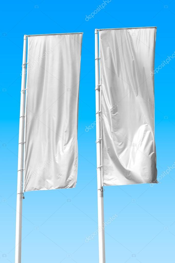 blank vertical banner