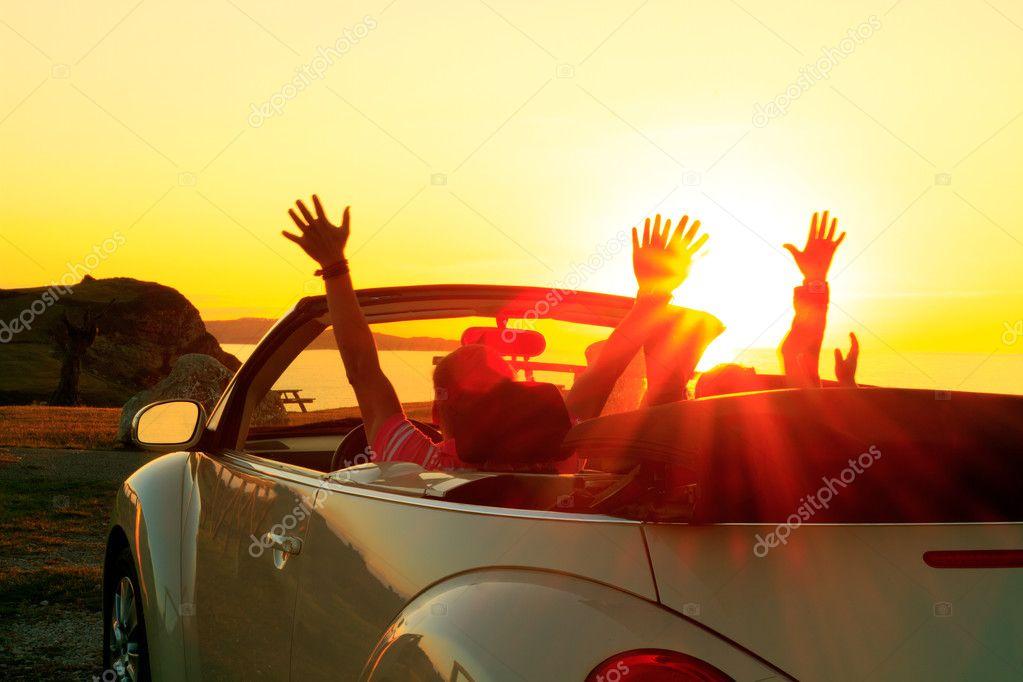 Cabriolet sunset