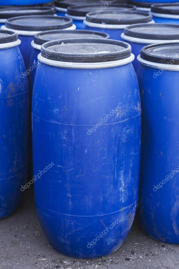 Big old plastic barrels