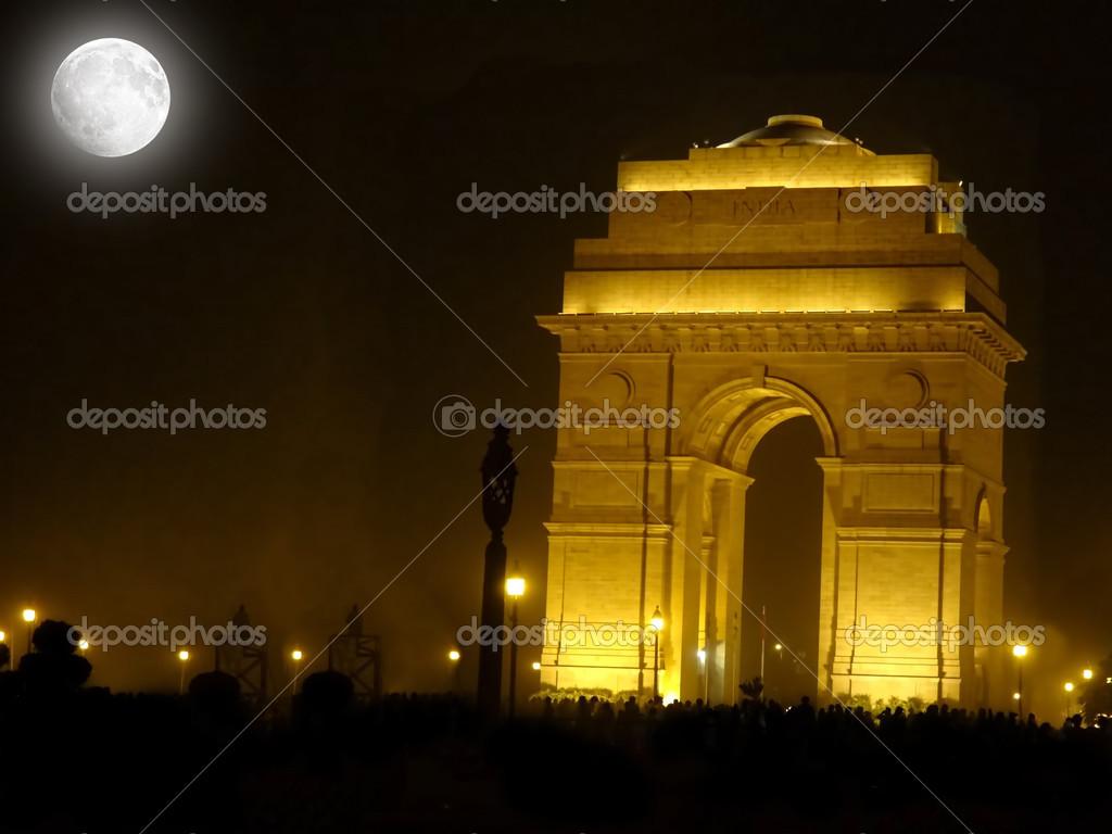 India Gate Memorial At Night Stock Photo Harshvardhanroy 22563427
