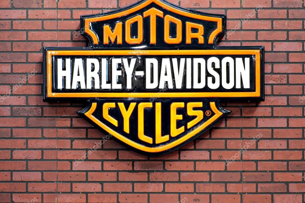 logotipo de harley davidson fotografia de stock. Black Bedroom Furniture Sets. Home Design Ideas