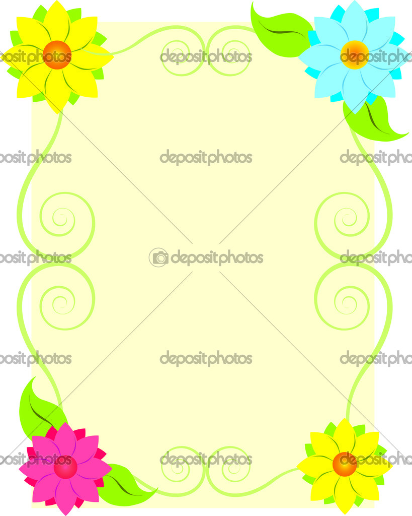 Marcos flores — Archivo Imágenes Vectoriales © suvor_s_star88 #30598909
