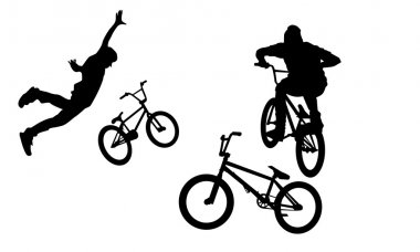 BMX Bike silhouettes, nothink, bunny hop