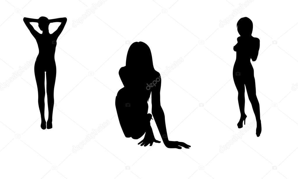 Векторные девушки голые большим