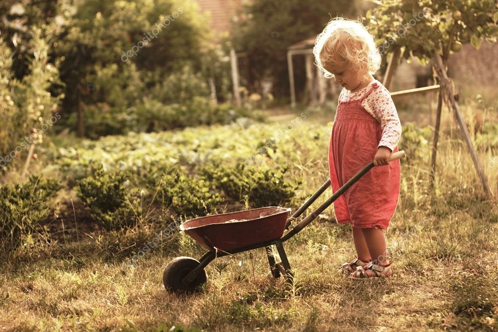 Two-year-old gardener