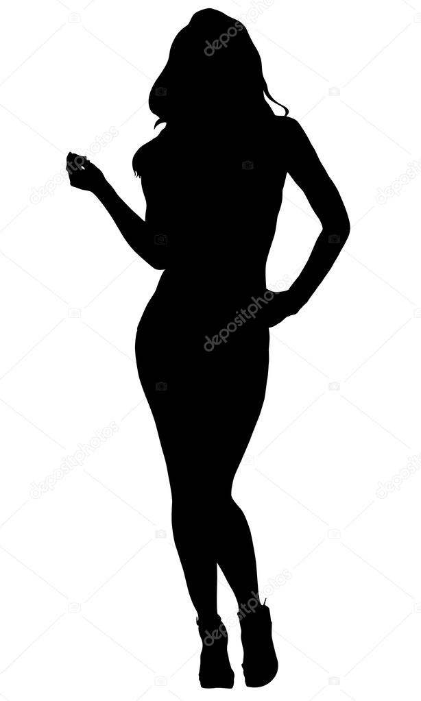 Sexy Woman Silhouette Stock Vector Snesivan888 40436595