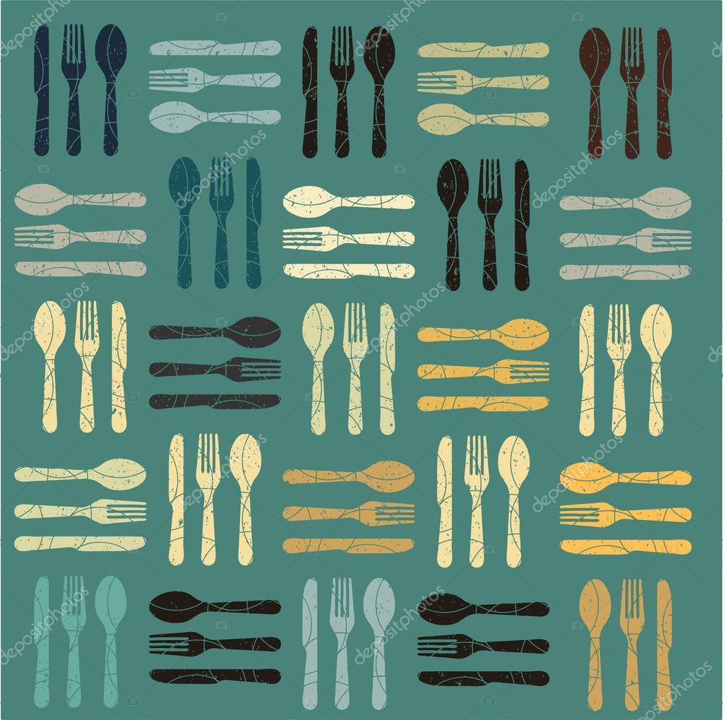 A blank menu template featuring cutlery Vector – Blank Menu Template