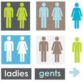 Fotografie sada příznaků toaletu