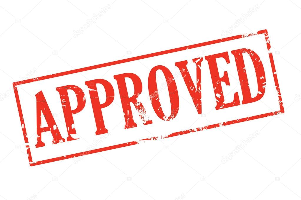 Stamp Of Approval Stockfoto