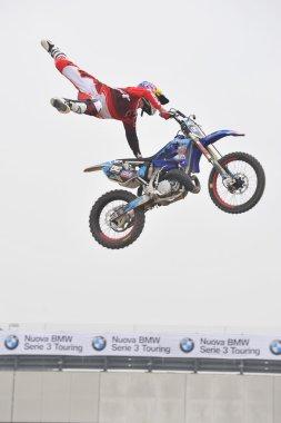 Daboot Team, Freestyle Motocross Show. EICMA fair, Milan, Italy