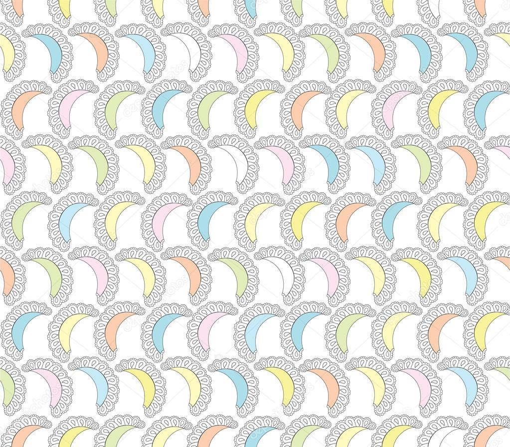 patrones sin fisuras con adorno de encaje sobre fondo blanco ...