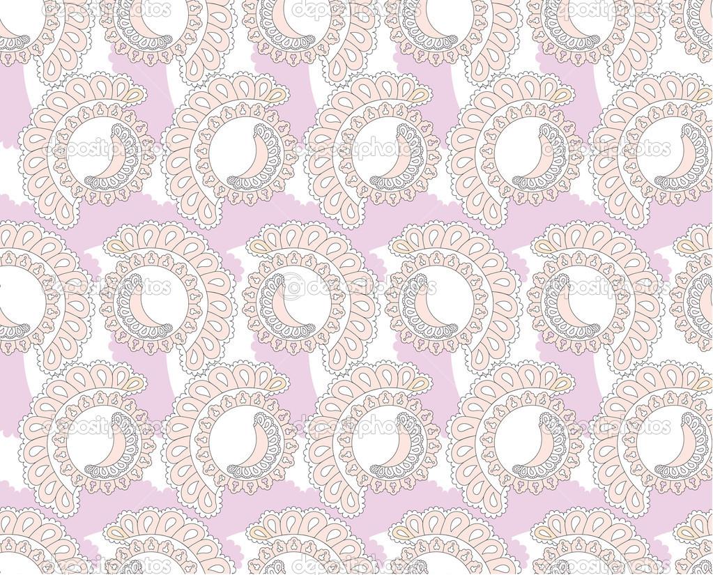 patrones sin fisuras con adorno de encaje Lila sobre fondo blanco ...