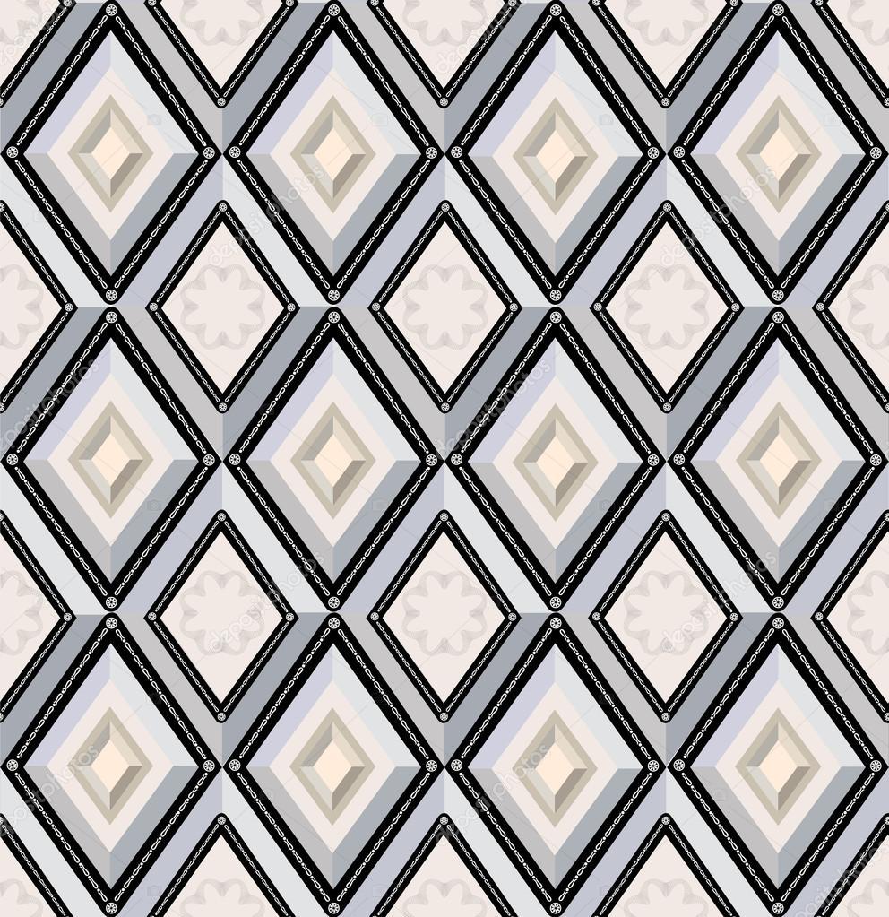 patrones sin fisuras con diamantes gris y beige — Vector de stock ...