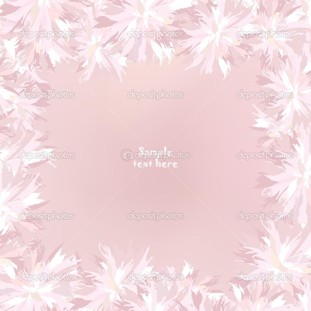Patron Floral Transparente Con Flores Blancas Y Rosas Sobre Fondo