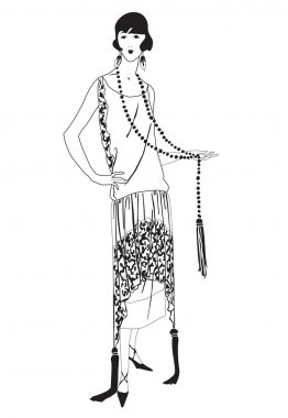 Flapper girls (20's style): Retro fashion party