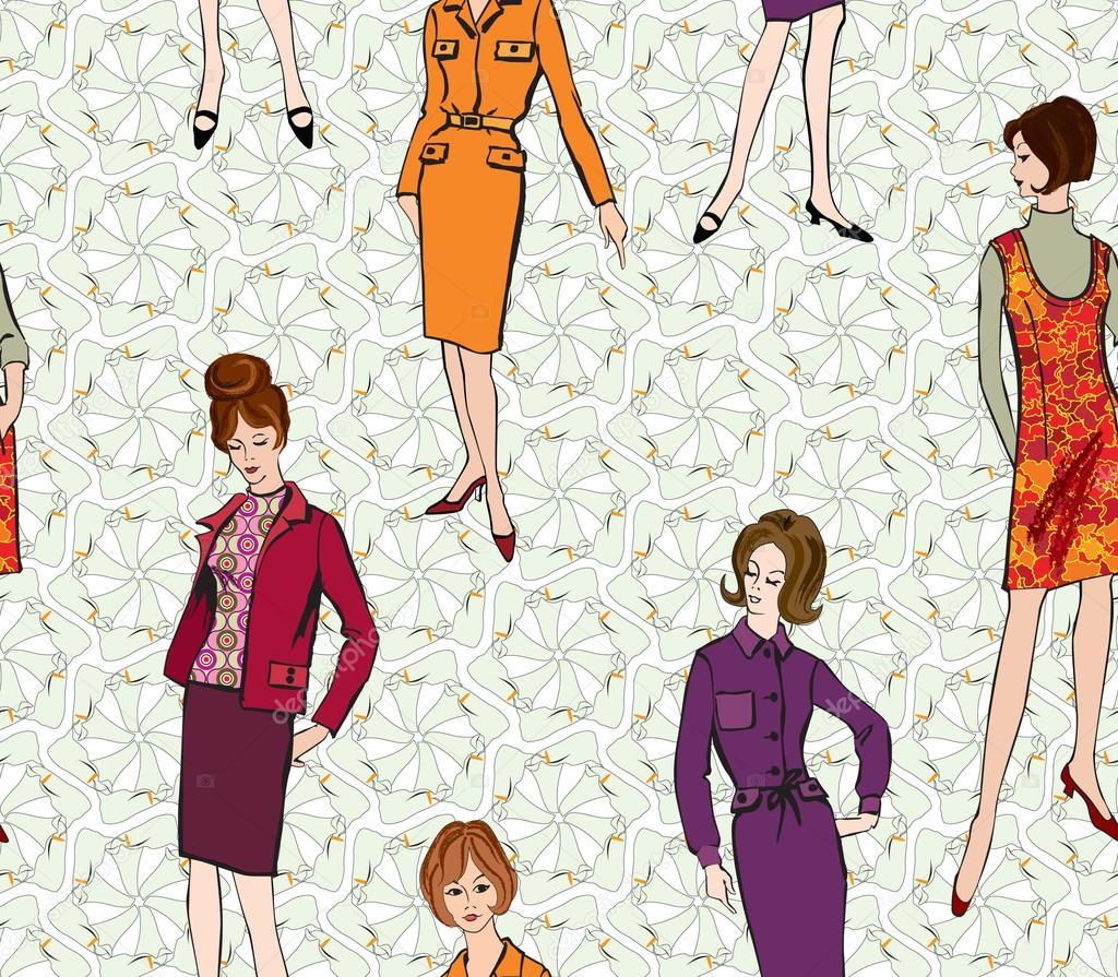 moda elegante vestidos niñas (estilo años 60 de los años 1950) de ...