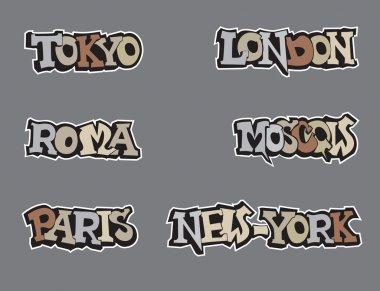 Symbols city world. Vector illustration