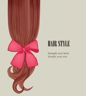 Hair style template. Hairstyle design. Vector illustration. Hair colorful background.