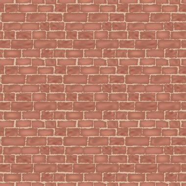 Brick wall texture. seamless vector background.