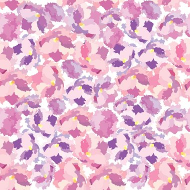 Flowers seamless background. Floral seamless texture with flowers. Vector Flourish repeating pattern.